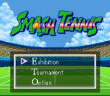 Smash Tennis SNES Main Menu