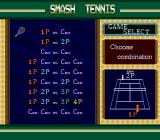 Smash Tennis SNES Game select