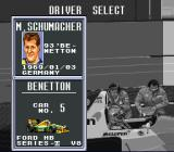 F1 Pole Position 2 SNES Select your driver