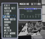 F1 Pole Position 2 SNES Machine Setting