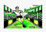 Peter Beardsley's International Football Amstrad CPC Loading screen.