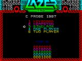 Lazer Tag ZX Spectrum Control options.