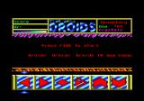 Star Wars: Droids Amstrad CPC Title screen.
