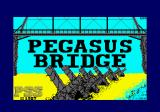 Pegasus Bridge Amstrad CPC Loading screen.
