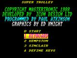Super Trolley ZX Spectrum Title screen.