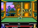 Masters of Combat SEGA Master System Agianst Wingberger, seemingly a metal worker