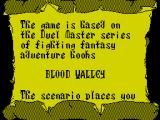 Duel Master: Blood Valley ZX Spectrum The story.