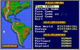 Gold of the Americas: The Conquest of the New World DOS Main Options
