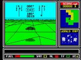 ATF: Advanced Tactical Fighter ZX Spectrum Flying over land.