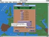 Fields of Battle Windows 3.x Scenario selection. Note tooltips.