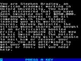 Jeffrey Archer: Not a Penny More, Not a Penny Less - The Computer Game ZX Spectrum Your story.