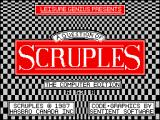 A Question of Scruples: The Computer Edition ZX Spectrum Loading screen.