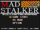Mad Stalker: Full Metal Force FM Towns Title screen
