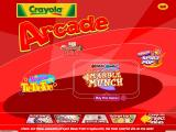 Crayola Arcade Windows The Title page and game selection menu.