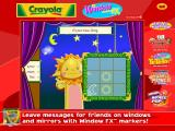 Crayola Arcade Windows Day/Night window Tic Tac Toe.