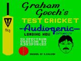 Graham Gooch's Test Cricket ZX Spectrum Loading screen.