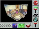 Roberta Williams' Mixed-Up Mother Goose FM Towns Weird angles, weird items
