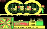 Wheel of Fortune DOS Only vowels are left.
