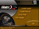 Official Formula One Racing Windows The initial options screen