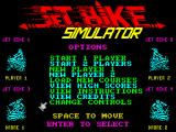 Jet Bike Simulator ZX Spectrum Standard title screen.