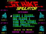 Jet Bike Simulator ZX Spectrum Expert title screen.