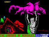 The Labours of Hercules ZX Spectrum Loading screen.
