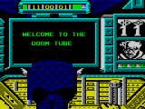Captain America in: The Doom Tube of Dr. Megalomann ZX Spectrum Title screen.