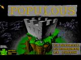 Populous / Populous: The Promised Lands FM Towns Main menu