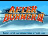 After Burner III FM Towns Title screen