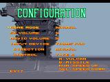 After Burner III FM Towns Configuration screen