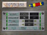 Gubble PlayStation Options screen