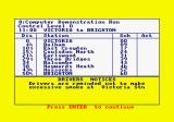 Southern Belle Amstrad CPC The timetable.