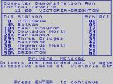Southern Belle ZX Spectrum The timetable.