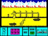 Yogi Bear ZX Spectrum Avoid obstacles.