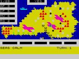 Iwo Jima ZX Spectrum The map of battle.