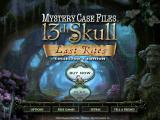 Mystery Case Files: 13th Skull (Collector's Edition) iPad Main menu