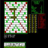 Computer Scrabble Sinclair QL Game in progress