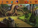 King's Quest V: Absence Makes the Heart Go Yonder! FM Towns In a forest. Visible interface