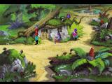 King's Quest V: Absence Makes the Heart Go Yonder! FM Towns A dwarf is playing with a toy