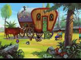 King's Quest V: Absence Makes the Heart Go Yonder! FM Towns Fortune teller's wagon