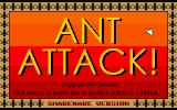 Ant Attack DOS Title screen
