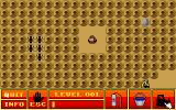 Ant Attack DOS First level.  The bulldozer tool cuts through the anthills like butter