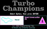 Turbo Champions DOS Main menu