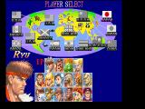 Super Street Fighter II FM Towns Character selection