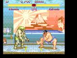 Super Street Fighter II FM Towns Honda does some crazy moves in his homeland