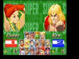 Super Street Fighter II FM Towns Versus menu