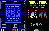 Paku Paku DOS Title and scores