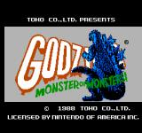 Godzilla: Monster of Monsters NES Title Screen