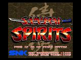 Samurai Shodown FM Towns Title screen