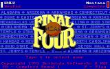 NCAA: Road to the Final Four DOS Title screen (EGA)